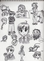 Artemis Fowl Doodles 1 by LauraDoodles