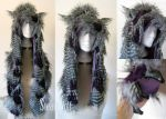Woodland Owl Hood with Talon Paws by Vampire--Kitten