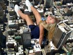 Giantess Hayden Panettiere Laying In City by docop