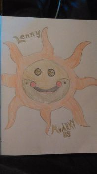 (Lenny) the Sun Concept Art, Color Me in Serenity by MrARKY89