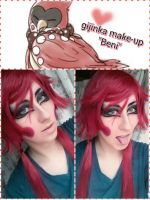 gijinka make-up Beni - DMMD by Gekroent