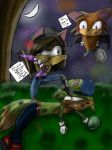 Sarah the Lion-Wolf Comit the Bat and Pyro the Fox by I-Will-Haunt-You