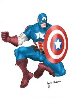 Ultimate Captain America by johnabran