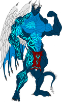 Alex. Eko Draconian Body with Tattoos by Exxylo