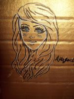 Gold Cardboard Sketch by pencil-to-papaer