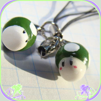 cell phone charm: 1up x2 by AtsirhcOken