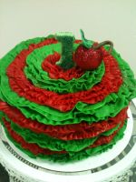 Cherry Smash Cake by simplysweets