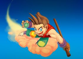 Goku Re-Imagined by charco