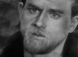 Jax Teller from Sons of Anarchy drawing by urosh1991