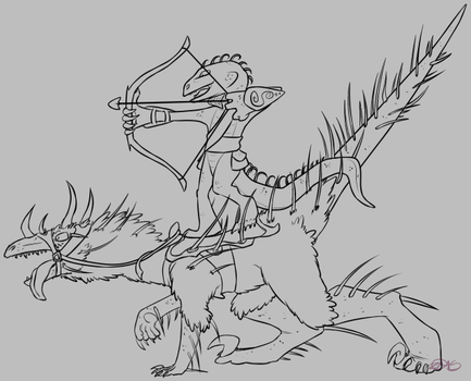 Zipf and Skippy Lineart by Zirra--Nova