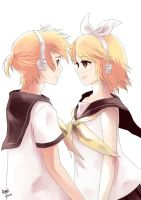 Kagamine reflections by Aiori