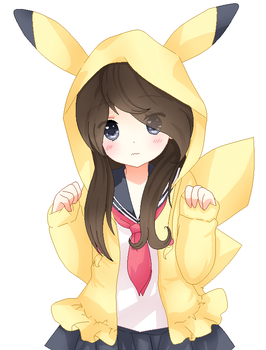 The gallery for --> Neko Chibi Base Anime Female Base With Hoodie