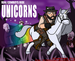 Cowboys Ride Unicorns by BrokenTeapot