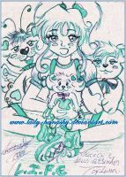 Lucia and her three bears by Lady-Hanashy