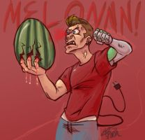 Holding a Watermelon by sporkbotic