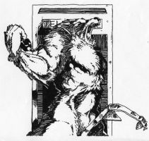 Werewolf in a Phone Booth by Stonegate