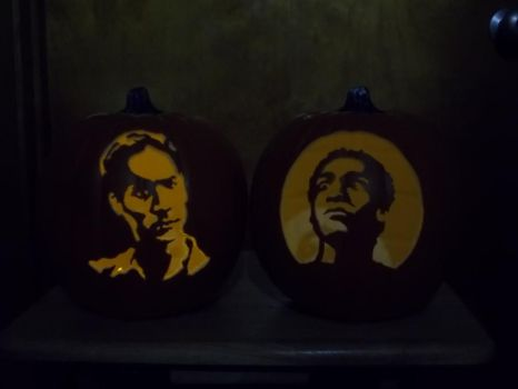 Troy and Abed on some puuuumpkins! by Shywalker