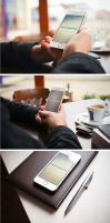 Iphone photorealistic mockups by Designslots