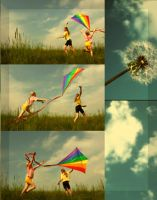 A kite rises against by 2PaperDreams