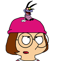 Joey on Meg Griffin's head by MarcosLucky96