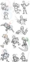 Pose Reference/Tutorial - Humanoid poses by Xaolin26
