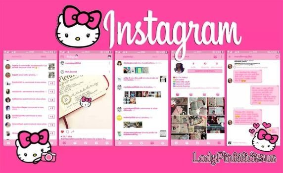Hello kitty Instagram for Android by LadyPinkilicious