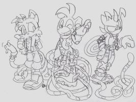 Team Longtail Outfit Designs by zombiecatfire13