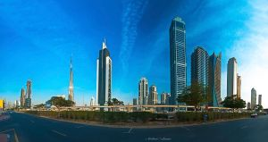 Dubai Panoramic View by ashamandour
