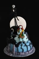 Nightmare Before Christmas Cake by KayleyMackay