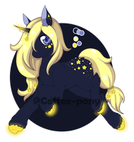 Adopt #5 Night Pony Auction [CLOSED] by M0rning-Coffee