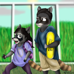 Rosa and Her Brother (Colored and Inked) by OrangeTabby106