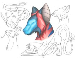Derfaru Art Study 2 Color by praxcrown5