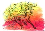 Oil Pastels: Stalion by kxeron