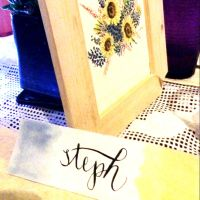 Place Cards Calligraphy 3 by jpaul