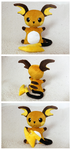 Raichu - Tea Party Style Plushie by tiny-tea-party