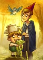 Over the Garden Wall by danidraws