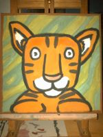 kids painting -tiger by gamertjecool
