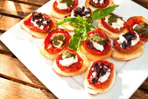 Tomatoes on Crostini by noregretting91