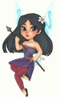 Chibi Disney Fairy Collection: Mulan by chelleface90