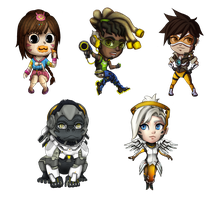 Overwatch Chibi by shufie