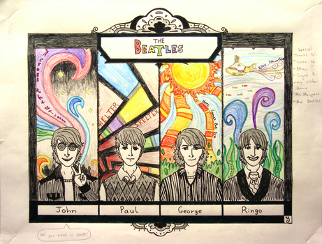 Beatles Math Project by SomeoneWhoDoodles