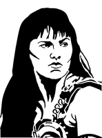 Xena, Warrior Princess Stencil by towelgirl21