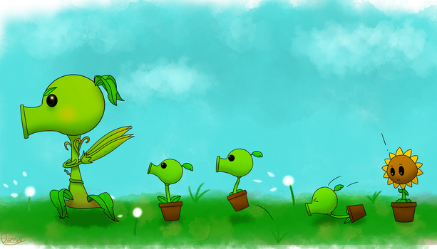 Follow Me Little Peas by FlimsyCone