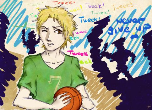 Never give up, Tweek! by signore-illusionista
