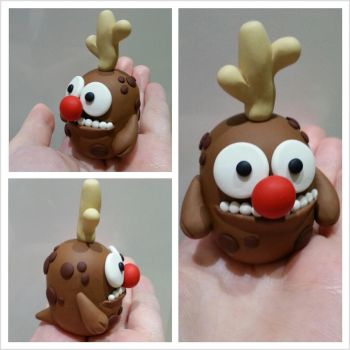 Ralph the Red Nosed Reindeer Monster by kirstipoo