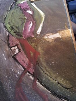 Mikey Canvas piece 24x30 (prt 2) by phour-nyne-guy