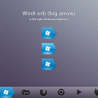 Win8 orb 'big arrow' by ap-graphik