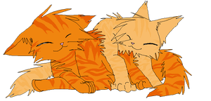 Firestar and Sandstorm by XSpottedfireX