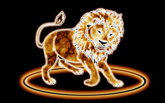 lion of fire by iki007