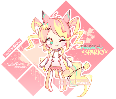 [CLOSED] 1$ SB Auction Adopt: Forcat #15 Sparky by ToasterKiwi